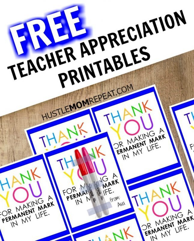 picture relating to Free Printable Teacher Appreciation Tags titled Instructor Appreciation Marker Reward Tag (Free of charge Printable