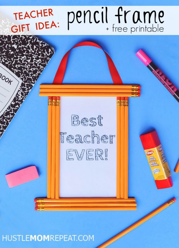 teacher gift idea pencil frame