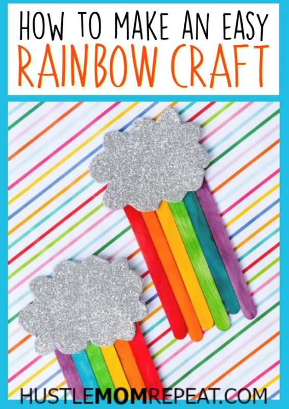 how to make an easy rainbow craft