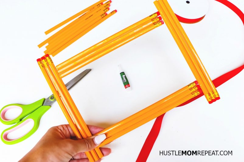 teacher gift idea pencil frame