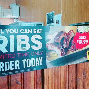 All You Can Eat Ribs at Dickey's Barbecue #RibsAndABigYellowCup