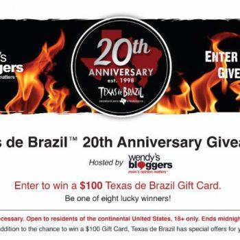 Texas de Brazil 20th Anniversary Specials (+ Giveaway)  #TdbToasts20Add #TexasdeBrazil