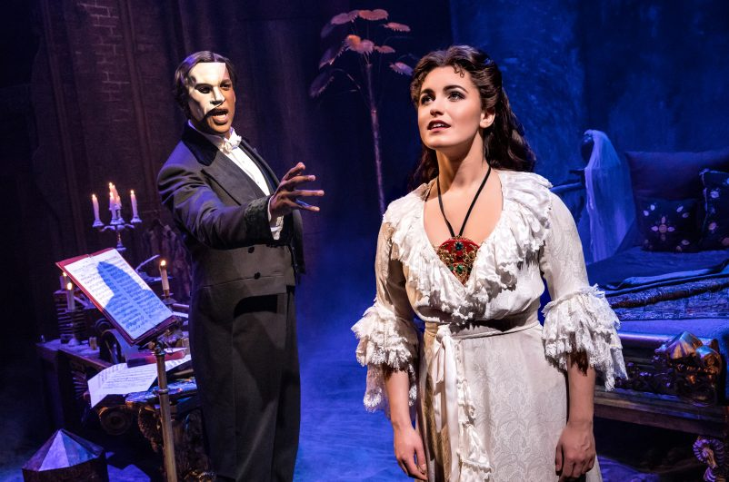 01. THE PHANTOM OF THE OPERA – Quentin Oliver Lee and Eva Tavares – photo by Matthew Murphy