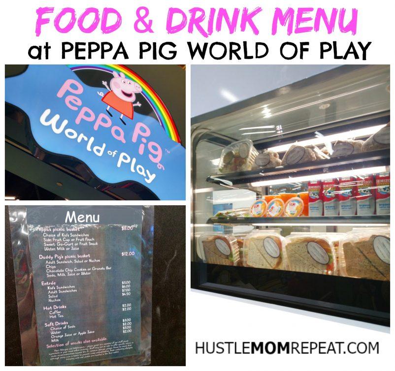 peppa pig menu