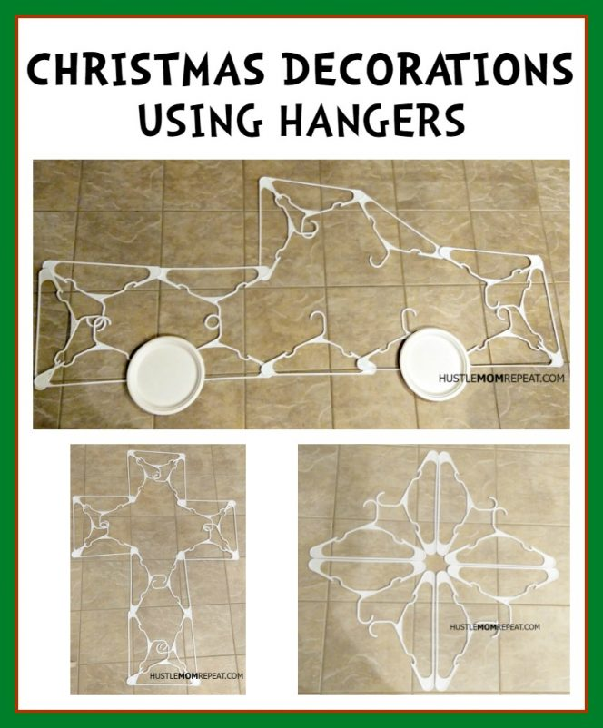 christmas decorations using hangers 1