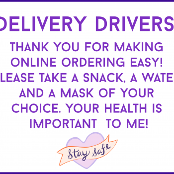 Free Delivery Driver Sign – Take A Mask