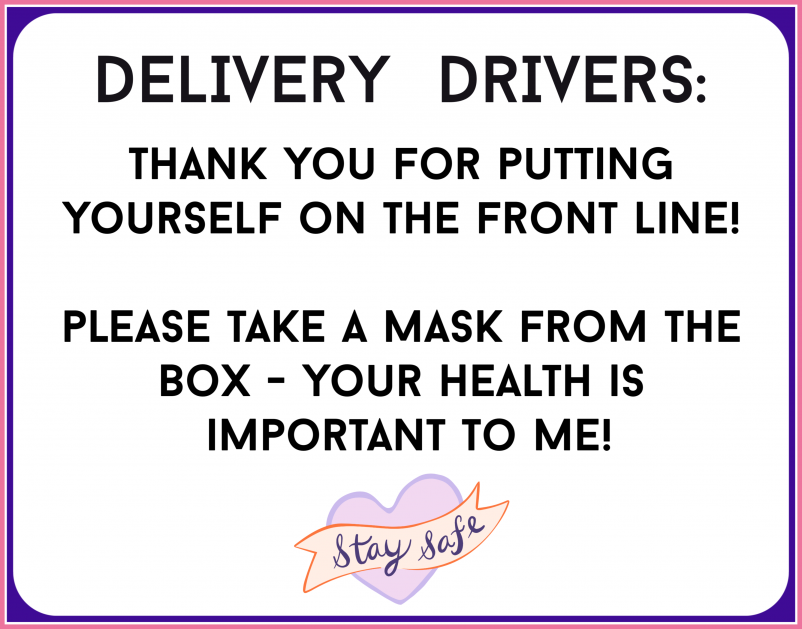 free delivery driver sign